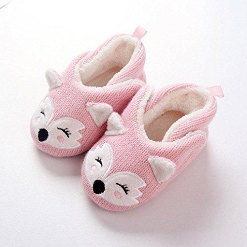 cinnamou Jungen Mädchen Winter Pantoffeln Slippers Schuhe mit Plüsch gefüttert Wärme Weiche Rutschfeste Hausschuhe Für Kinder Baby Home