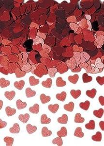 Gifts 4 All Occasions Limited SHATCHI-184 - Confeti de mesa (14 g), diseño de corazón