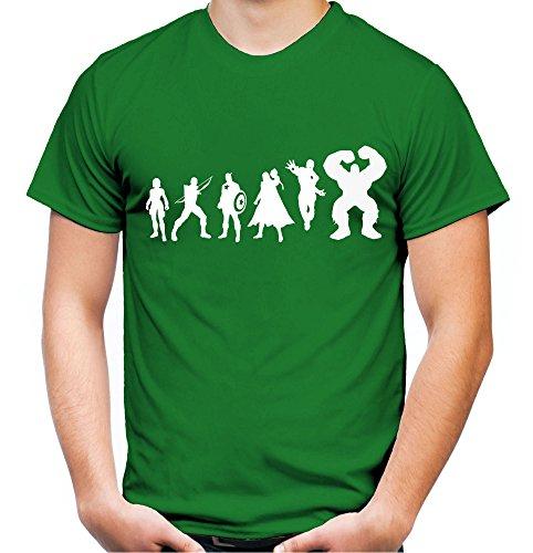 Evolution Avengers Männer und Herren T-Shirt | Heroes -