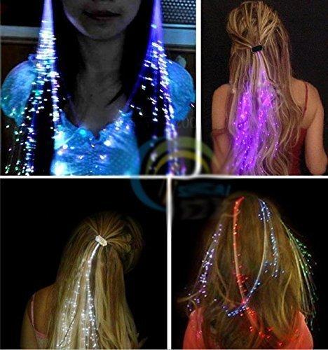Flash LED Haar Licht Leucht Haar Perücke