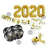 balloonfantasy Partyboutique Ballon und Deko Set Silvester 2020