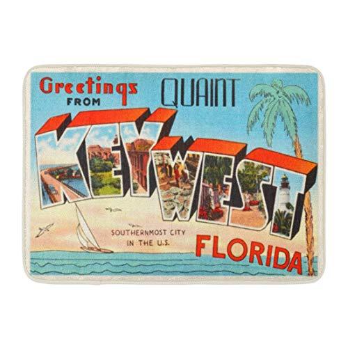 LIS HOME Bad Matte Stadt Key West Florida FL alte Vintage Reise Grüße Badezimmer Dekor Teppich