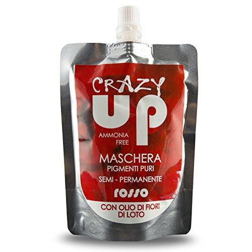 Crazy Up Teinture masque pour cheveux semi-permanente (toutes les couleurs) rouge