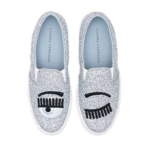 CHIARA FERRAGNI - Zapatillas para Mujer Plateado 32