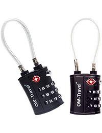 ✅ Candado TSA Combinacion Antirobo Maleta - Alta Seguridad Combinación 4 Digitos. Cerradura para Funda Maletas de Viaje, Caja Herramientas, Taquillas Vestuario, Locker : Candados Numerico Negro