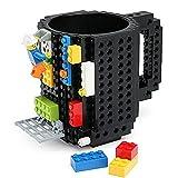 Building Brick Mug, Pixelblocks Tasse, Lego Tasse, DIY Brick Tasse Building Blocks Kaffeetasse Puzzle-Becher