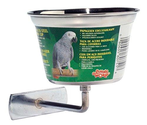 Living World Mangeoire pour Oiseaux Mangmetal/Attache 480 ml