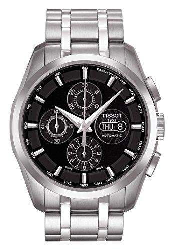 Tissot 0 - Reloj de automático para hombre, con correa de acero inoxidable, color negro