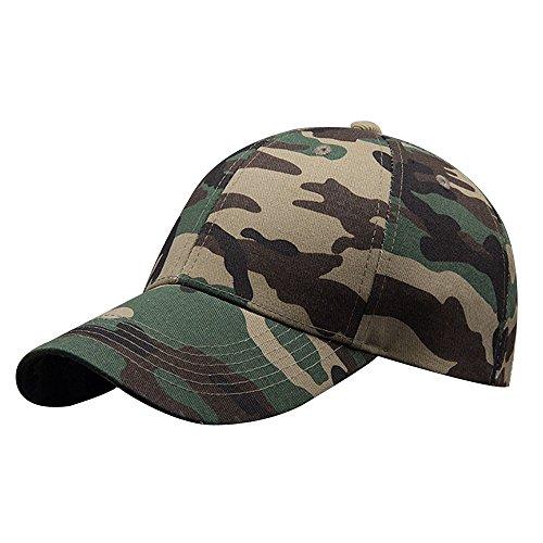 Kangqifen Herren Damen Baseball Cap,Baumwolle Camouflage Kappen,Verstellbar 56-59 cm