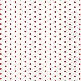 20 Servietten Polka Dots Mini Punkte weiß/rot 25 x 25 cm 3 lagig, Cocktail Servietten Tissue