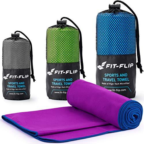 Fit-Flip Lila mit dunkelblauen Rand, 1x 160x80cm   mikrofaser handtücher Kinder mikrofaser handtücher Hund