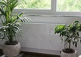 Heizkörperverkleidung, 62 x 60 cm Design: Leaves, weiß (Marke: Szagato) (Heizkörperabdeckung Abdeckung für Heizkörper Heizungsverkleidung)