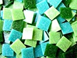 Mosaic Tile Mix. 200 Mixed 2cm Vitreous Greens