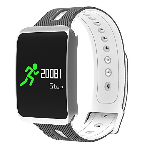 Festnight Touchscreen Smart Sport Armband BT Smartband Uhr Blutdruck Pulsmesser Aktivität Tracker Schlaf-Monitor IP68 Wasserdicht
