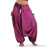Hippie Hose Haremshose Aladinhose Pumphose für Damen & Herren 36 38 40 Pink Rosa