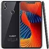 CUBOT P20 (2018) 4G Network Pantalla 18:9/6.18' Diseño El Fin de los Bordes Android 8.0 Dual Sim Teléfono Libre, Batería 4000 mAh, 4GB + 64GB, Dual Cámara, Octa-Core, WiFi, Bluetooth,GPS, Negro