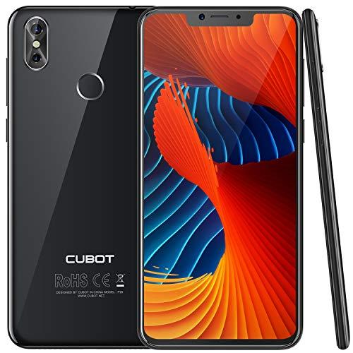 "CUBOT P20 Ultra Dünn 4G-LTE Dual SIM Smartphone ohne Vertrag, 6.18\"" (19:9) IPS FHD Touch Display mit 4000mAh Akku, 4GB Ram + 64GB interner Speicher, 20MP + 2 MP/13MP, Android 8.0, Octa-Core, Schwarz"