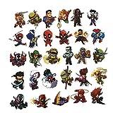 RosewineC Superheros Laptop Stickers Cute Cartoon Computer The Avengers Vinyl Sticker Bike Skateboard Luggage Decal Graffiti Patches Decal 100pcs(50pcs)