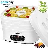 Aicok Deshidratador de Alimentos, 5 Bandejas con Temporizador hasta 72h y regulador de temperatura...