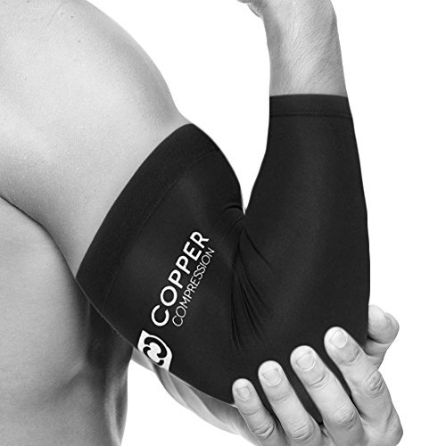 Kupfer Kompression Recovery Elbow Sleeve, # 1garantiert höchste Kupfer Inhalt. Best Kupfer infundiert Passform–tragen überall. Unterstützung für Workouts, Golfer und Tennisarm, Arthritis, Sehnenentzündungen (mittel) (Elbow Compression Sleeve Kupfer)