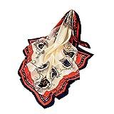 Malloom_Écharpe Femmes Chic Élégant Imprimé Foulards Dames Doux Carré Wrap Shawl Écharpe 90x90cm