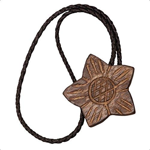 Raffhalter/Dekomagnet Blüte holzfarben Zum Raffen für Stoffe Gardinenschals Aller Art Gesamtlänge: ca. 45cm