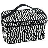 Trucco del sacchetto - TOOGOO(R) Zebra modello pieghevole cosmetico di trucco del sacchetto della cassa della mano