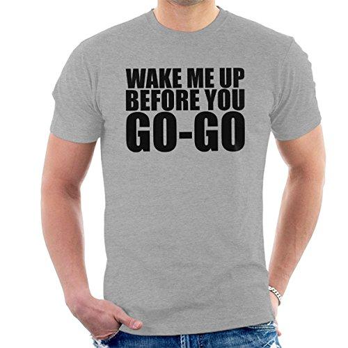 3d13b445 Women's Wham Wake Me Mens Grey Wake Me Mens Grey Wake Me Wham 80s Graphic T- shirt