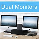 Best Dual Monitor Stands - FITUEYES Wood Dual Monitor Stand Screen Riser Review