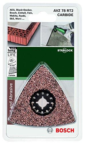 Bosch DIY Karbid Deltaschleifplatte (Mörtel und Fliesenkleber für Multifunktionswerkzeuge Starlock) (AVZ 78 RT2)