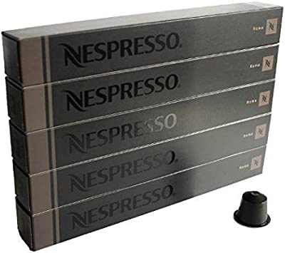 NESPRESSO Càpsulas Originali Caffè, 50 Càpsulas Originali Roma