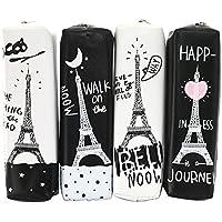 Demarkt Estuche de lápices de cuero creativo simple bolsa de papelería Tower Boy Girl Pequeño Estuche