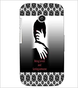 PrintDhaba Quote D-3261 Back Case Cover for MOTOROLA MOTO E (Multi-Coloured)