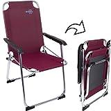Camping Klapp-Stuhl Copa Rio Alu Rubin, bis 100kg, 600D-Gewebe: Camping Stuhl Aluminium Klappstuhl Campingzubehör Faltstuhl