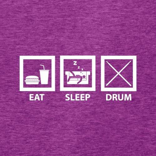 Eat Sleep Drum (Schlagzeug) - Damen T-Shirt - 14 Farben Beere