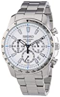 Seiko Reloj Analógico de Cuarzo para Hombre con Correa de Acero Inoxidable – SSB025P1 de Seiko