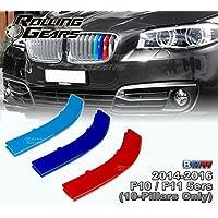 5-Layer Pintura M-Color riñón Grill Stripe Insert Carcasa para F10 F11 (10 haces), por Rolling Gears