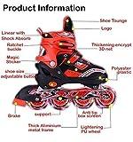 Farraige Latest Inline Skates Size Adjustable All Pure PU Wheels it has Aluminum-Alloy