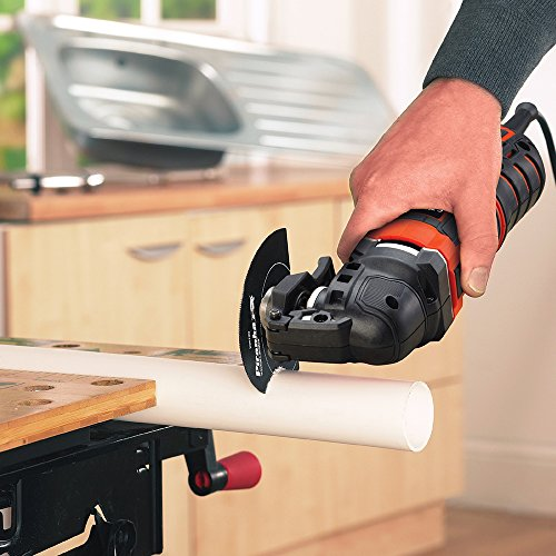 Cuts through plastic - BLACK+DECKER Multi-Oscillating Tool, 300 W