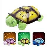 YRE LED-Musik Schildkröte Projektor Lampe Schildkröte Sternenhimmel Lichter Kinder Spielzeug Schlaf Licht Geburtstag Urlaub Geschenk,Yellow