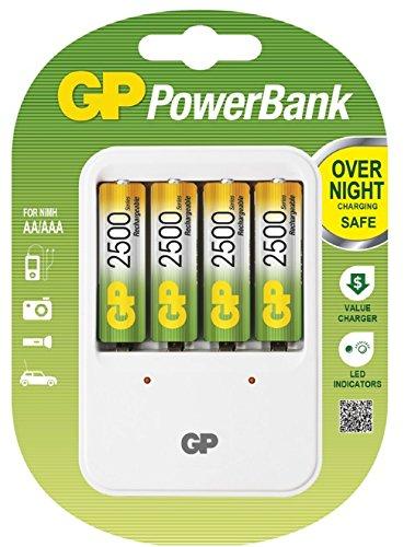 GP PB420 GS250MC-UC4 PowerBank PB420 Universal Konstantstrom Ladegerät für NiMH (AAA/AA) inkl. 4 x 250AAHC
