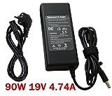neu Notebook Laptop Netzteil Ladegerät mit Ladekabel für SAMSUNG R510 R520 R530 R540 AC Adapter 19V 4,74A 90W