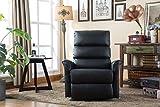 MCombo Elektrisch Aufstehhilfe Fernsehsessel Relaxsessel elektrisch verstellbar (Schwarz) - 6