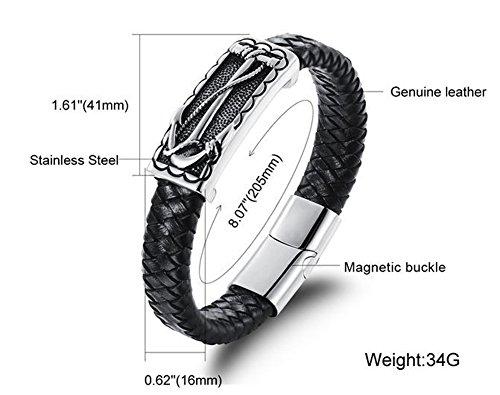 SaySure - vintage genuine leather mens bracelets bangles Length 185 MM