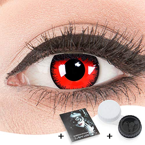 Funnylens 1 Paar farbige rote schwarze Crazy Fun red Lunatic volturi Jahres Kontaktlinsen.Topqualität zu Halloween und Karneval mit gratis Kontaktlinsenbehälter ohne Stärke!