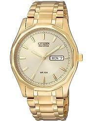 Citizen Herren-Armbanduhr Analog Quarz Edelstahl beschichtet BM8432-53PE