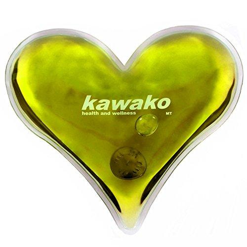 kawako Taschenwärmer/Handwärmer Herz in gelb TW HG135125