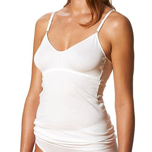 2er Pack Mey Damen BH-Hemden - Noblesse - 25119 - Weiß - Größe 46 - BH-Unterhemd mit verstellbaren Trägern - Unterhemd 100{edd7342a7432ff4d15212e50a958ab358ad3e8693a84bb45fafc34d41c913e68} Baumwolle