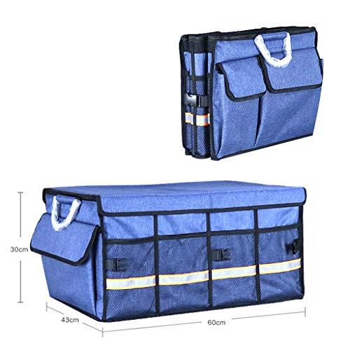 Cassiel Y Boîte De Rangement pour Voiture - Facile À Nettoyer, Pliable, Poignée en Aluminium (Bleu),#3