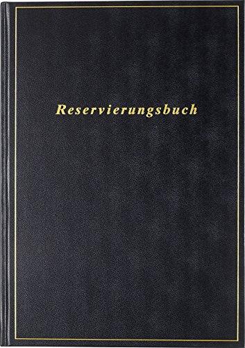 rido/idé 702740390 Reservierungsbuch, 1 Seite = 1 Tag, 210 x 297 mm, Balacron-Einband schwarz, Kalendarium  2019